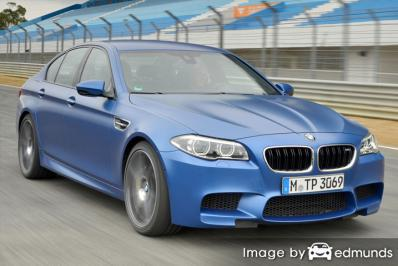 Insurance rates BMW M5 in Plano