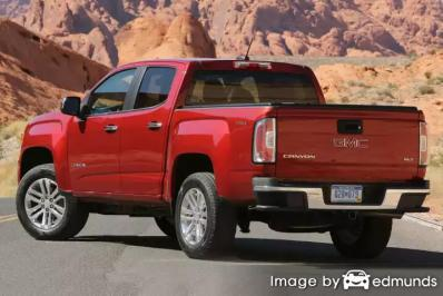 Insurance rates GMC Canyon in Plano