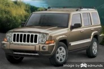 Insurance rates Jeep Commander in Plano