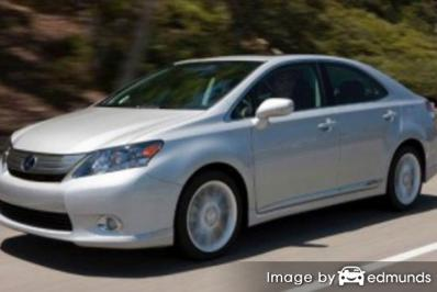 Insurance rates Lexus HS 250h in Plano