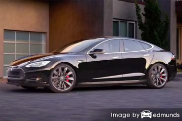 Insurance quote for Tesla Model S in Plano