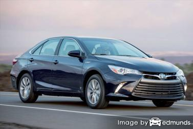 Insurance rates Toyota Camry Hybrid in Plano