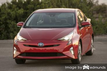 Insurance quote for Toyota Prius in Plano